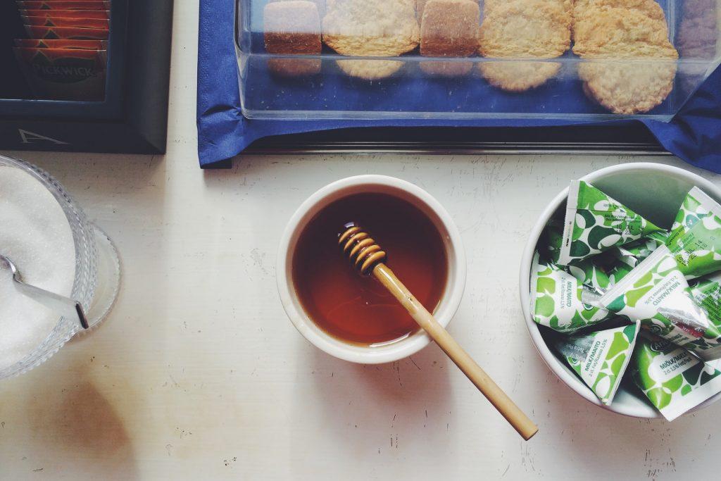 Sugar, tea and honey